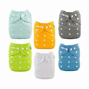 ALVABABY Baby Cloth Diapers One Size Adjustable Washable