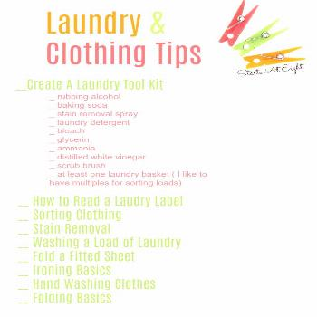 Life Skills as High School Electives: Laundry and Clothing Tips from Starts At Eight teaches our te