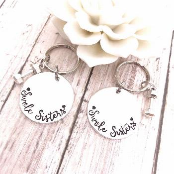 Swole Sister, Keychain, Work out Jewelry, Gym Weights, Swolemate, Yoga, Lift Heavy, Fitness Accesso