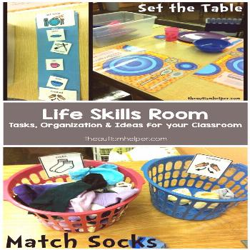 Tips & Tricks for setting up a Life Skills Room to help teach students with Autism important life s