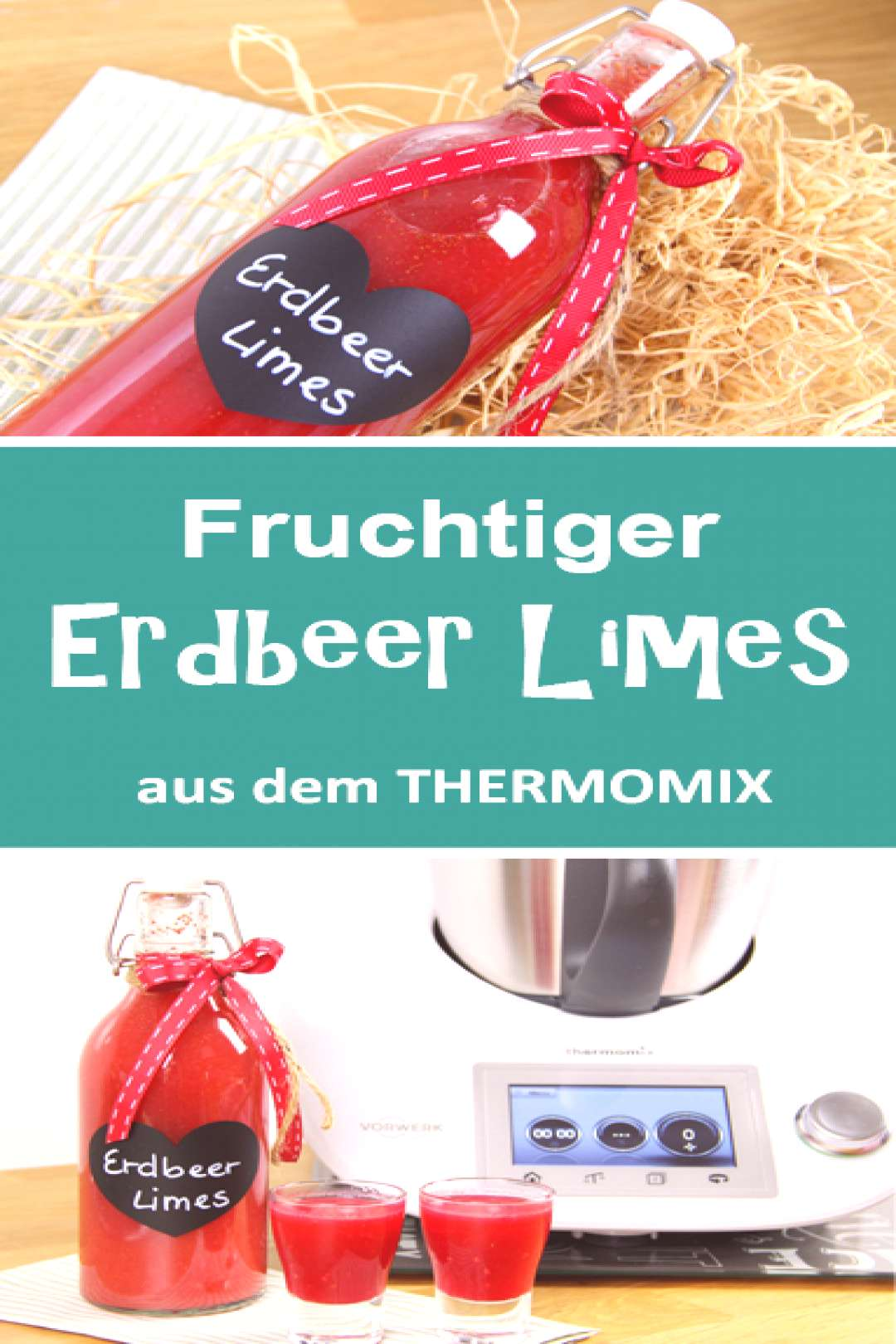 Fruity strawberry limes from the Thermomix. Quick and easy. - -
