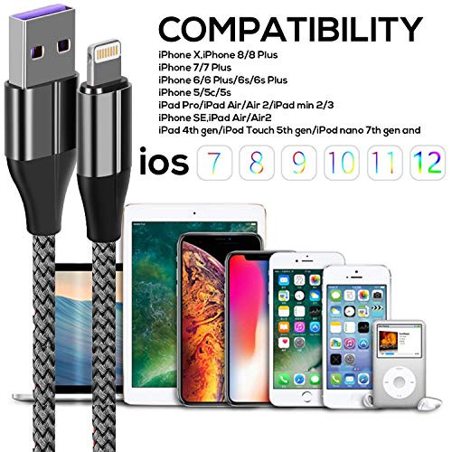 iPhone Charger Cable (3 Pack 10 Foot), [MFi Certified] 10