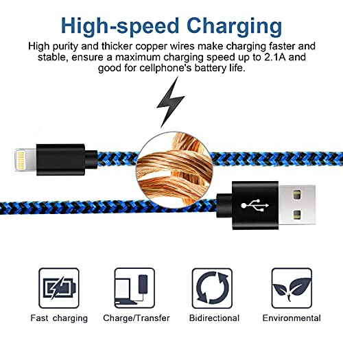 iPhone Charger Cable, CUGUNU 5 Pack[3/3/6/6/10FT] MFi