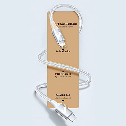 USB C to Lightning Cable 6FT 2Pack, Power iPhone Charger